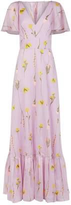 Lela Rose Flounce Hem Gown