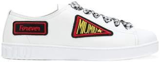 Miu Miu Vichy Gingham Ribbon Lace Up Sneakers