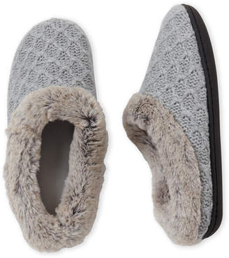 Dearfoams Sweater Knit Clog Slippers
