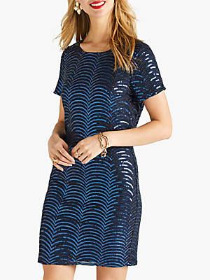 Yumi Sequin Dress, Blue Navy