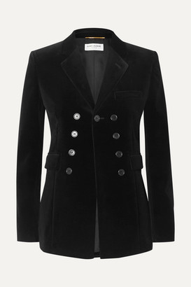 Saint Laurent Cotton-velvet Blazer - Black