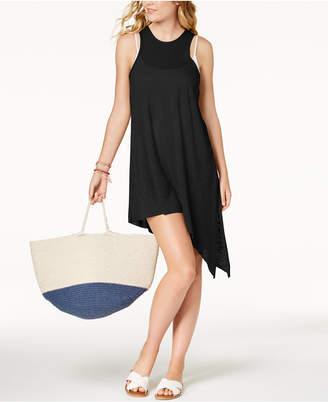 Becca Breezy Basics Asymmetrical-Hem Cover-Up Dress Women's Swimsuit