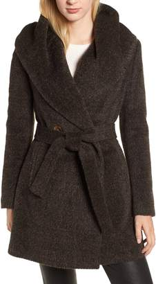 Trina Turk Grace Hooded Wrap Walker Coat