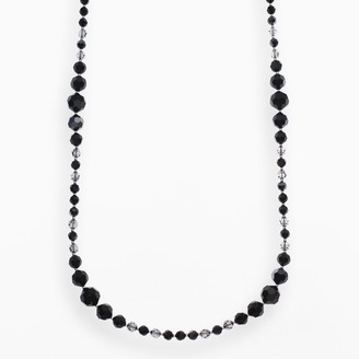 Swarovski Crystal Avenue Silver-Plated Crystal Long Station Necklace - Made with Crystals