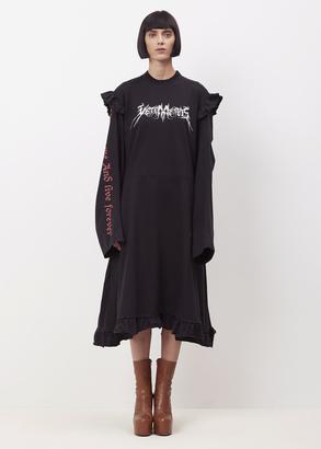 Vetements black + print 70's dress print $2,075 thestylecure.com