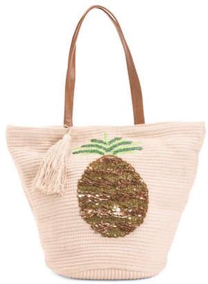 Large Embellished Pineapple Handbag