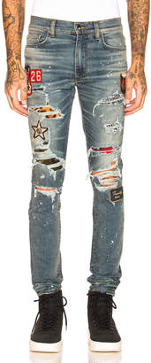 Amiri Art Patch Painted Jean