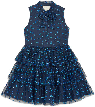 Children's glitter dots tulle dress $1,250 thestylecure.com