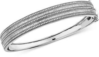 Effy Diamond Bangle Bracelet (1-1/2 ct. t.w.) in 14k White Gold