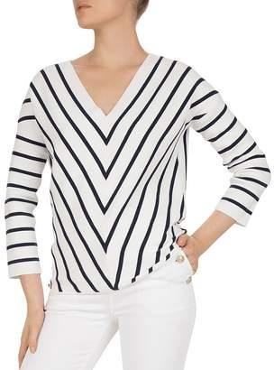 Gerard Darel Jasmine Striped Cotton Sweater