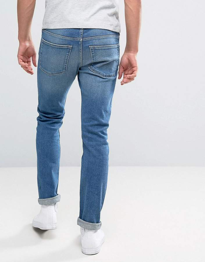 Weekday Friday Skinny Jeans Cricket Blue Wash