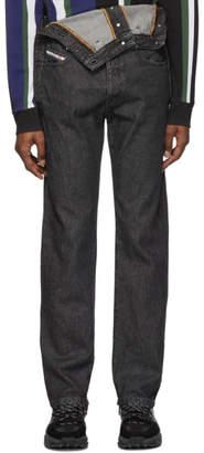 Diesel Red Tag Black Glenn Martens Edition Stonewash Denim Jeans