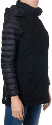 Colmar Black Biker Jacket With Contrasting Sleeves