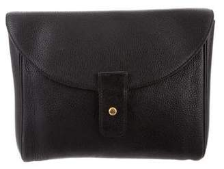 Delvaux Grained Leather Clutch