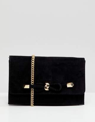 Carvela Kupid Suedette Bag with Knot Detail Clasp