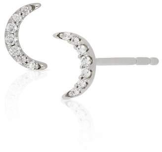 Bony Levy 18K White Gold Diamond Half Moon Stud Earrings - 0.05 ctw