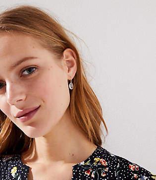 LOFT Faceted Stone Drop Earrings