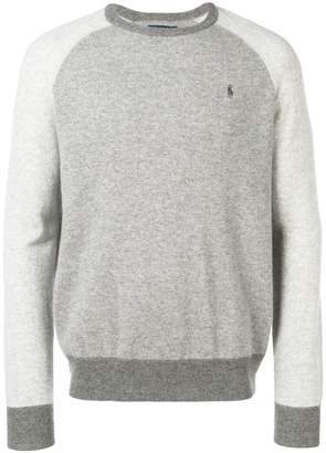 Polo Ralph Lauren cashmere two-tone jumper