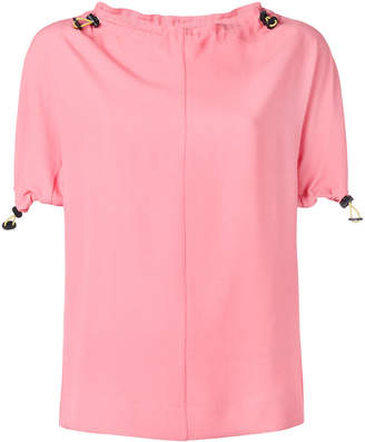 Marni drawstring trim blouse