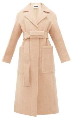 Jil Sander Belted Single Breasted Wool Coat - Womens - Light Pink