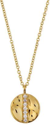 Ippolita 18K Gold SensoTM Medium 15.5mm Disc Pendant Necklace with Diamonds