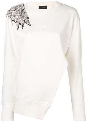 Lédition embellished shoulder wing sweatshirt