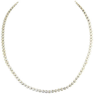 One Kings Lane Vintage 14K White Gold & Diamond Tennis Necklace