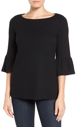 Petite Women's Pleione Stripe Knit Bell Sleeve Top $49 thestylecure.com