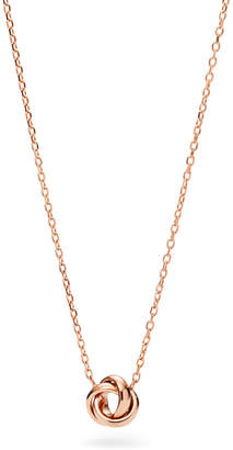 Fossil Flex Knot Rose Gold-Tone Steel Necklace