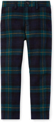 Ralph Lauren Newport Tartan Plaid Wool Pants, Size 5-7