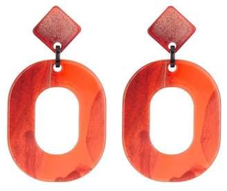 Stella + Ruby Horn Geometric Dangle Earrings