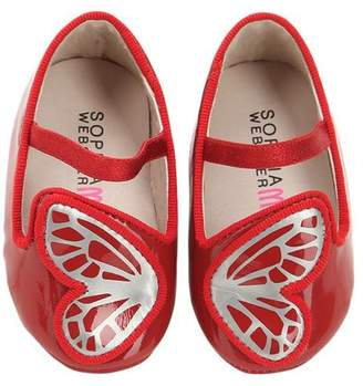 Sophia Webster Bibi Patent Leather Butterfly Shoes