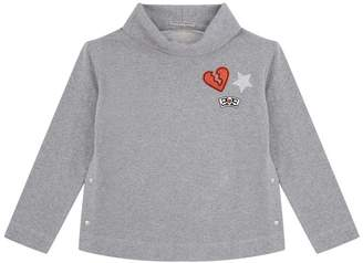 Ermanno Scervino Patch Cowl Neck Sweatshirt