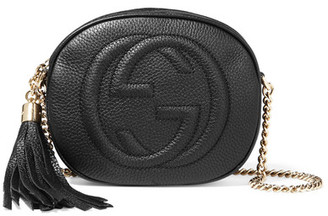 Gucci - Soho Mini Textured-leather Shoulder Bag - Black $850 thestylecure.com