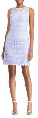 Lauren Ralph Lauren Lace-Mesh Sleeveless Dress