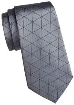 Giorgio Armani Triangle Print Silk Tie