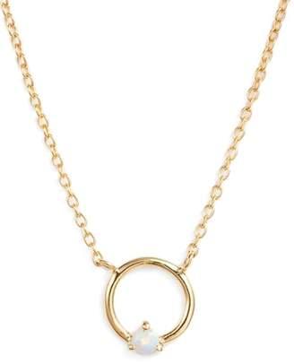 Argentovivo Sydney Opal Open Ring Pendant Necklace