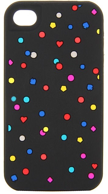 Kate Spade Kaleidoscope Specs Silicone Case for iPhone 4 (Black Multi) - Electronics