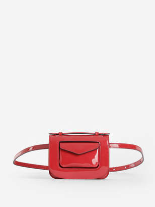 Stée STEE WOMEN'S RED MICRO FANNY PACK IN PATENT LEATHER