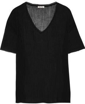 American Vintage Dinaytown Crinkled Cotton And Silk-blend Gauze T-shirt