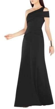 BCBGMAXAZRIA Annely One Shoulder Peplum A-Line Gown