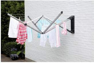 Brabantia Wallfix Clothes Airer, 24 Metre Washing Line, With Protective Cover, Pegs & Peg Bag