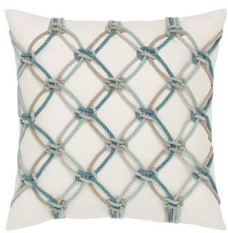 Aqua Rope Indoor/Outdoor Accent Pillow