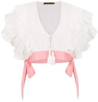 Clube Bossa ruffled Fonda cropped top