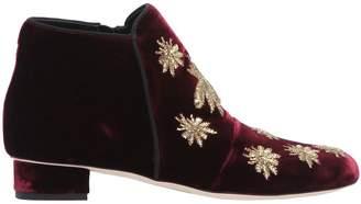 30mm Spider Velvet Ankle Boots