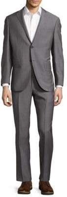 Corneliani Wool Narrow Pinstripe Suit