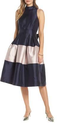 1901 Colorblock Fit & Flare Dress