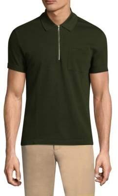 Lacoste Half-Zip Cotton Polo