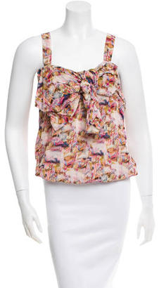 Mulberry Printed Sleeveless Top $75 thestylecure.com