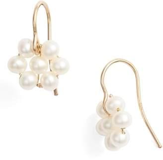 Poppy Finch Cultured Pearl Flower Earrings